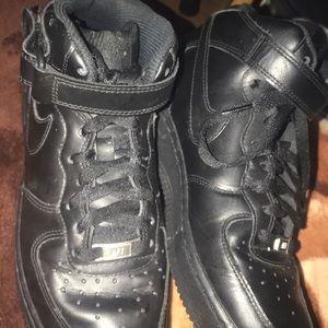 Black Nike Air Forces